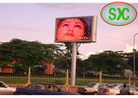 China P10 Outdoor Usage and Full Color Tube Chip Color  Advertising LED screens factory