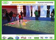 Good Quality RGB LED Display & High Class P10 LED Dance Floor Waterproof / Dance Floor Tile Screen Rent , 5000 Cd/Sqm on sale
