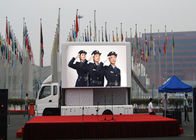 Silent Mobile Truck Led Display Panel , Led Mobile Billboard Great Waterproof