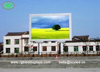 China Large Advertising Led Screens Fixed On Double Pillar / Outdoor Led Billboard factory