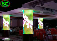 Indoor P4 Fixed Advertising LED Screens Curved LED Display Cylindrical Screens