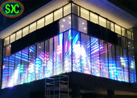 China High Transparent LED Screen P10.41 Full Color For Shopping Mall Glass Facade factory