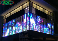 G10.4 RGB LED Display Glass Wall Display Media Facade Transparent LED Curtain