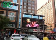 China High Resolution P6 Outdoor LED Advertising Display Board With Steel Cabinets factory