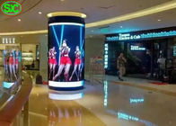 P4 Indoor Fixed Advertising Flexible LED Screen Cylindrical Shape 2121 Lamp Size