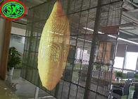 Light Weight Transparent Led Video Wall Mesh Billboard Glass Display waterproof