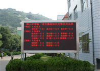 China Single Color LED Message Board P10 Outdoor , Programmable LED Signs company