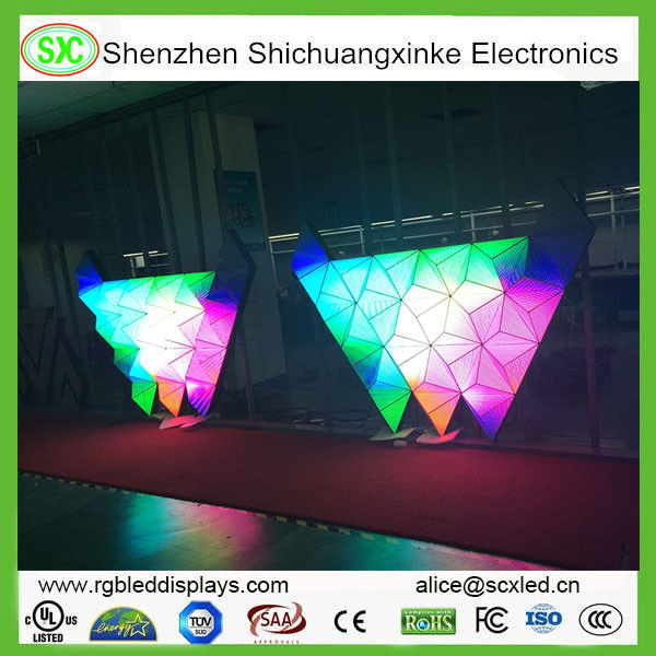 5 Years Warranty 3D DJ Booth Stage LED Screens , Video 3D Display in