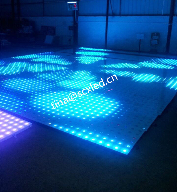 Rgb Club Dance Floor Hire , Durable Transparent Glass