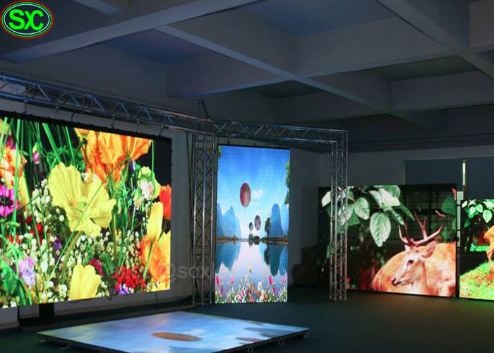 P8.9 large RGB Floor full color indoor led display , 5 Years Warranty