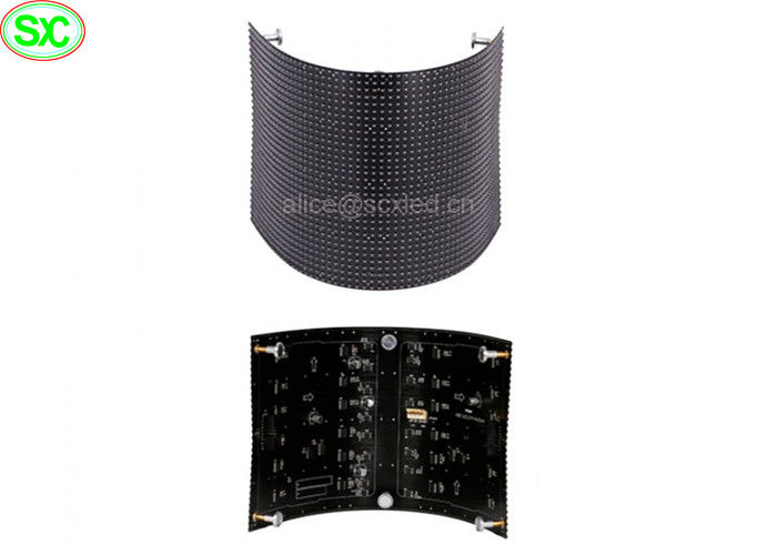Soft 60Hz Full Color 10mm flexible led screen Panel with Meanwell , 1R1G1B