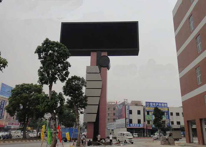 Full Color RGB LED Display Waterproof P10 Screen 6000cd/m2 Brightness Fixed Installation