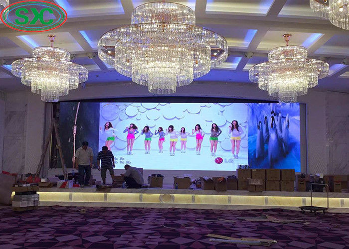 1R1G1B Indoor Led Video Display , Full Color Led Display Board Advertising Screen P4