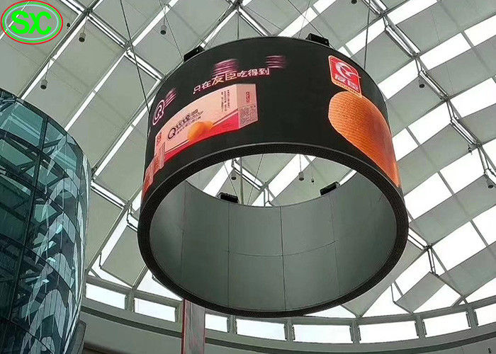 Flexible Curtain LED Display P3 Indoor Wide View Angle SMD2020 For Shopping Mall