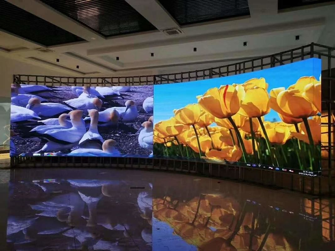 Flexible Stage Indoor Full Color LED Display Rental Big Screen P3 Seamless Connection