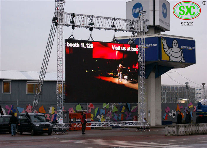 IP65 P8mm Outdoor Led Video Screens For Advertising / Digital Billboards