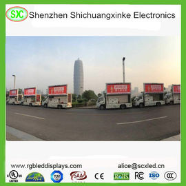 P6 outdoor Mobile Truck LED Display 3G WIFI Control Meanwell Power Supply