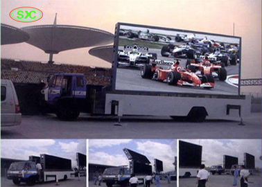 outdoor mobile truck led display with  4mm pitch for commercial advertising