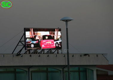 Advertising p6 outdoor led screen / 1R1G1B usb led display 6500K - 9500K