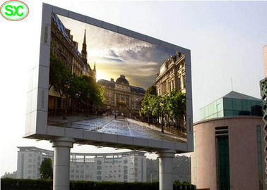 P16 P25 High Resolution Outdoor Full Color LED Display , 1R1G1B LED Panel