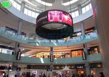 1R1G1B P5 Light Weight Flexible Malls Hanging LED Display Screen