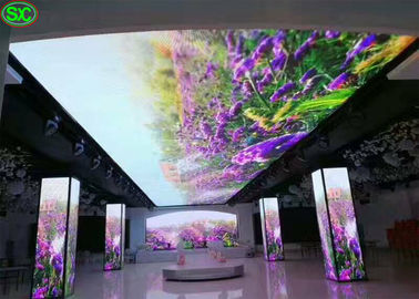 HD Flexible Curtain LED Display , Waterproof IP65 p5 led screen Super Thin