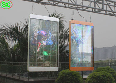 P10 Outdoor transparent led curtain screen for Window , 75% Transparency