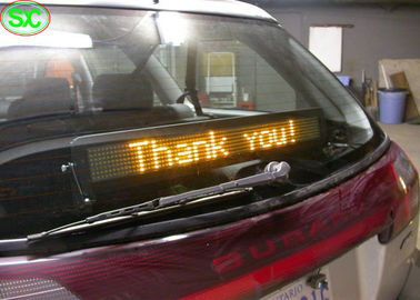 Single Red Color Car LED Sign Display With Meanwell Power Supply , High Definition