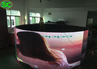 360 Degree Round Shape Rgb Led Display , Thin Led Screen Indoor High Resolution