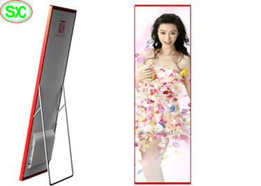 Portable Indoor Full Color LED Display , Digital LED Poster P3 Led Media Display