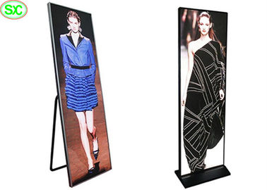Ultra Thin Led Poster Board , 3mm Pitch Portable Poster Display 4cm Thickness