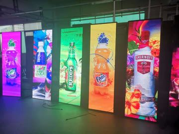 China P3 Portable LED Advertising Board , Mirror Poster Panel Display RGB SMD 2121 factory