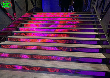 China High Definition P4 Front Staircase Flexible LED Screen Energy Saving Design factory