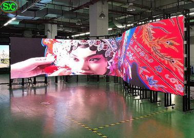 China P2.5 Flexible LED Screen RGB 3 In 1 160000/M² Pixel Density 2121 Lamp Size factory