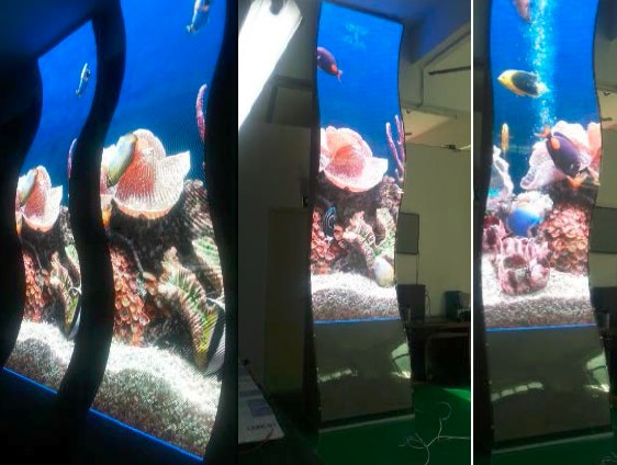 indoor HD P4 SMD Soft  Led  Display,1/16 scans curved led display indoor led modules