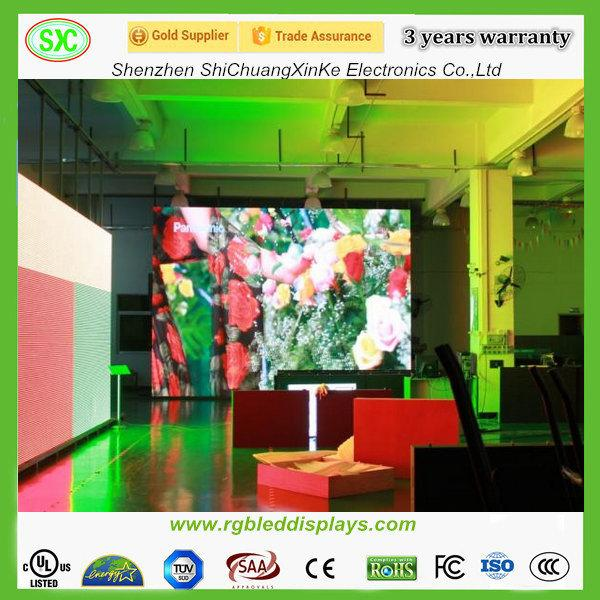 P6 P10 SMD(3 In 1)indoor full color led display die cast aluminum and iron cabinet 3years warranty