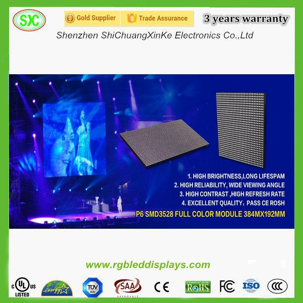 P6 P10 SMD(3 In 1) stage led screen die cast aluminum cabinet 3 years warranty