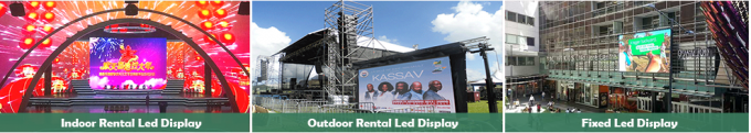 Video Wall Smd2121 Stage Led Screens / Outdoor Led Billboard 3 Years Warranty