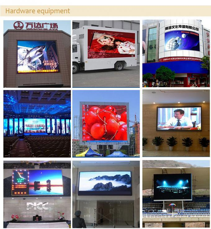 Outdoor LED Billboards P6 Full Color Led Display Advertising 192mm*192mm