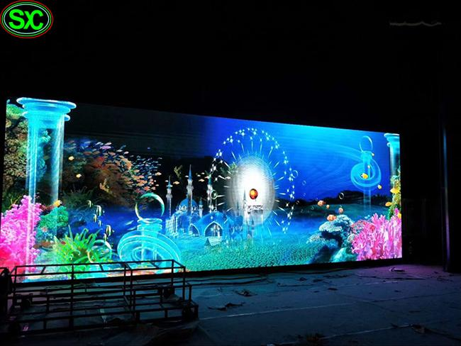 IP65 Waterproof Curved Curtain Led Display Rgb For Outdoor Wall Decoration