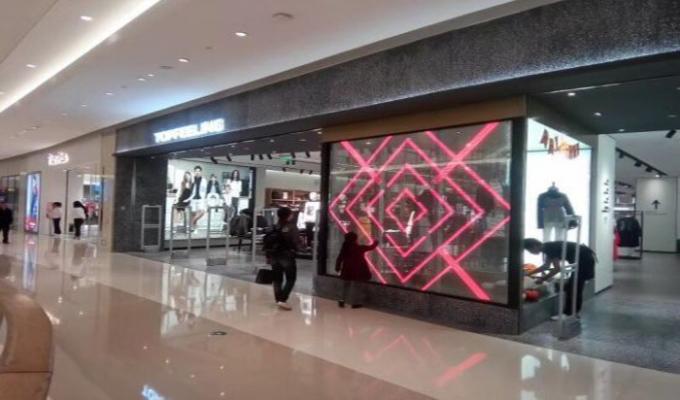 Super market Transparent Glass Led Display 1R1G1B G7.8125 Indoor Installation 2