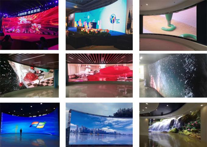 140º/140º View Angle Indoor Led Display Board , Led Screen Video Wall P3.91/P4.81