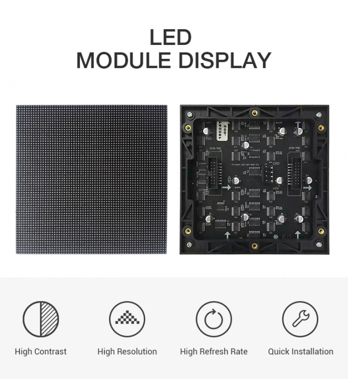 Light Weight Indoor Full Color LED Display 1000CD/M² Brightness Wide View Angle