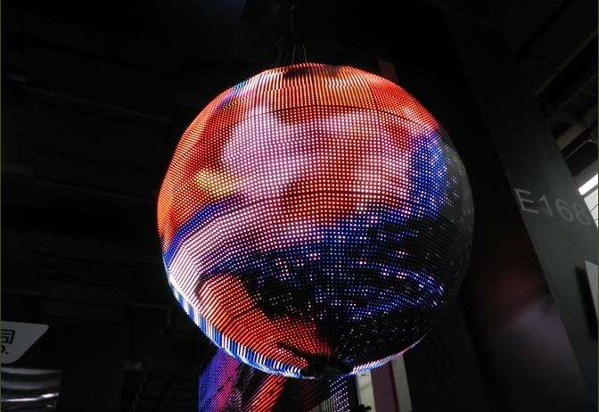 Hd Indoor Ball Sphere LED Screen Full Color 64*32 Dots Resolution Constant Driving 0