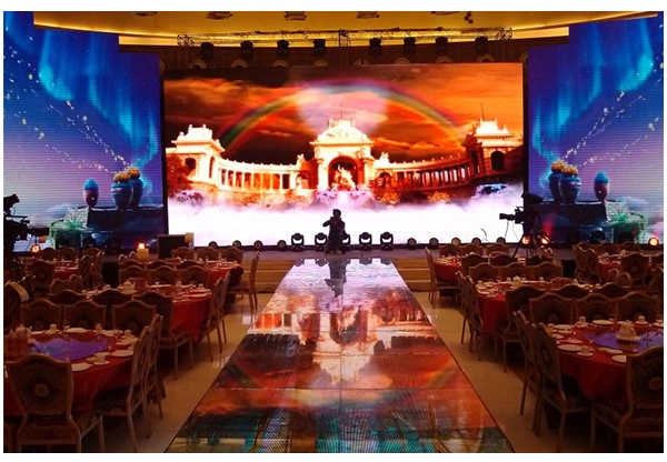 High Resolution Indoor Full Color LED Display Video Wall P4 Brightness Adjustable 4