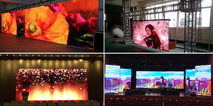 High Resolution Indoor Full Color LED Display Video Wall P4 Brightness Adjustable 5