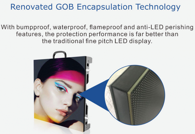 P1.875 P2 P2.5 GOB 3840HZ Indoor Full Color LED Display For Advertising 1