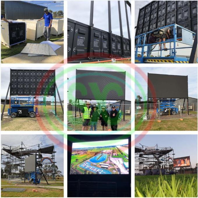 640x640mm P5 RGB Full Color LED Display for Stage Setting LED Wall Video 0