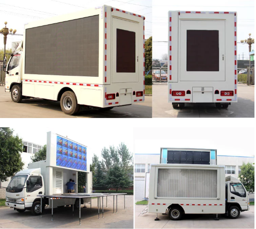 Vehicle HD Video Truck Mounted Led Screens Multimedia Advertising P5 P6 P8 P10 1